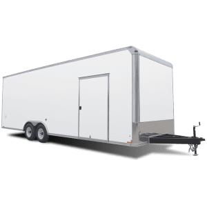 Pursuit - Auto Hauler - Race Trailer - White - Pace American