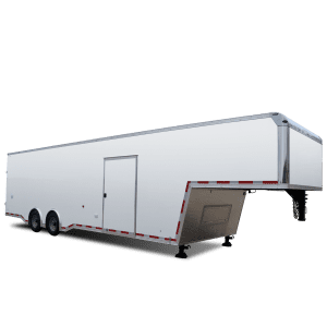 Pursuit Gooseneck - Auto Hauler - Race Trailer - White - Pace American